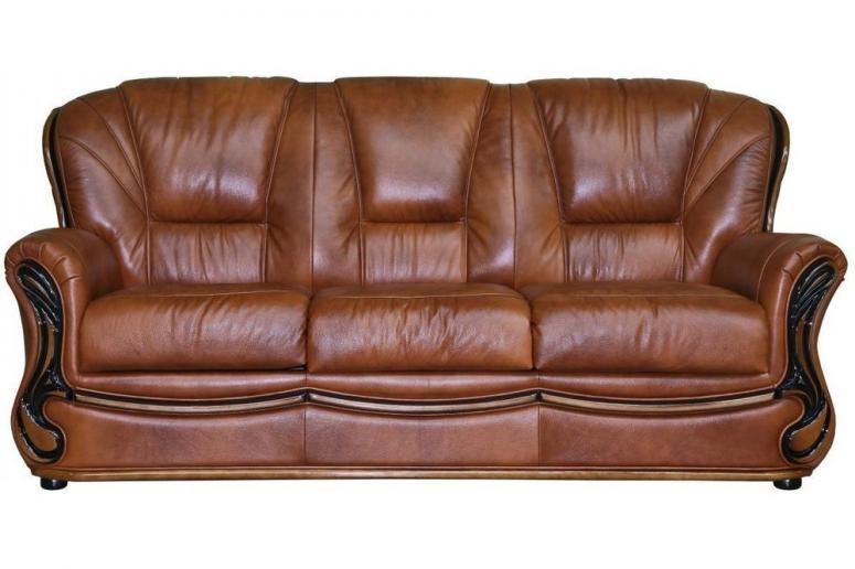 Трёхместный кожаный диван «Изабель 2» (3м)